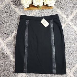 Carmen Marc Valvo- Black Pencil Skirt Sz 6